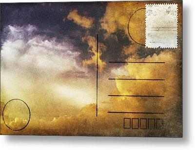 Cloud In Sunset On Postcard Metal Print by Setsiri Silapasuwanchai