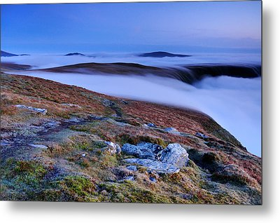 Cloud Waterfalls Bannerdale Crags Metal Print by Stewart Smith