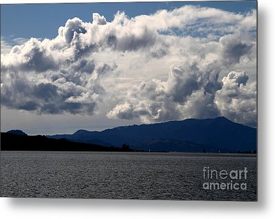 Clouds Over Mount Tamalpais . 7d13713 Metal Print by Wingsdomain Art and Photography