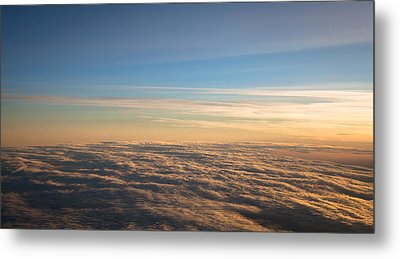 Cloudscape From A 757 Metal Print by David Patterson