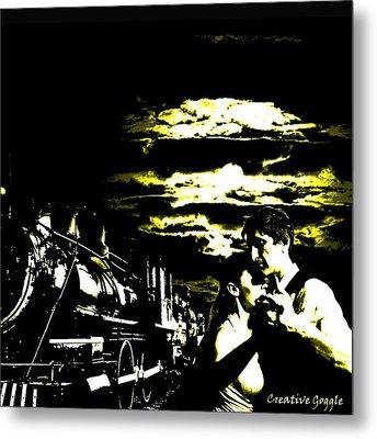 Cloudy Nights Metal Print by Creative Goggle