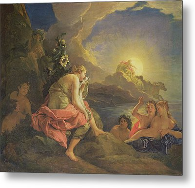 Clytie Transformed Into A Sunflower Metal Print by Charles de Lafosse