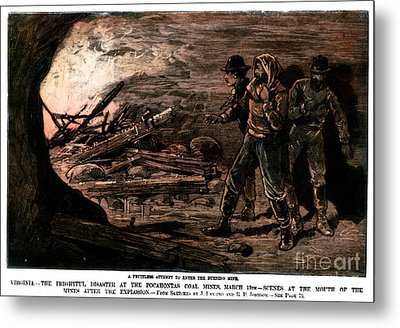 Coal Mine Explosion, 1884 Metal Print by Granger