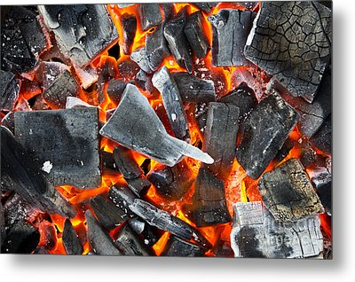Coals In The Fire Metal Print by Mongkol Chakritthakool