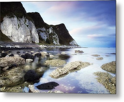 Coast Between Carnlough & Waterfoot, Co Metal Print by The Irish Image Collection
