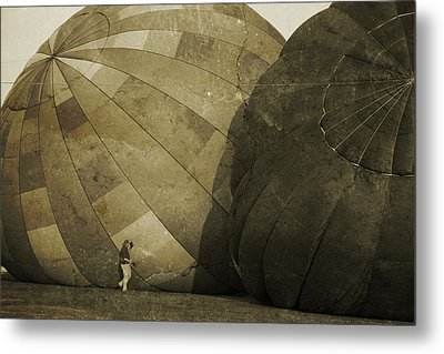 Coaxing The Balloons Metal Print by Betsy C Knapp