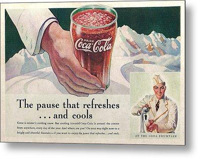 Coca Cola 1937 Metal Print by Georgia Fowler