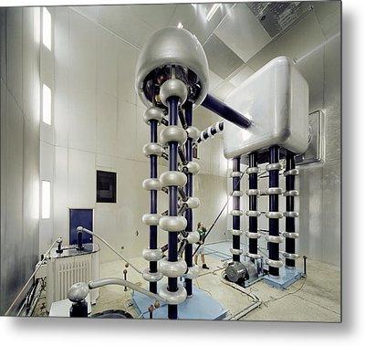 Cockroft-walton Generator, Fermilab Metal Print by David Parker