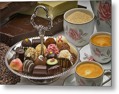 Coffee And Chocolates Metal Print by Frank Lee