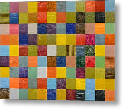 Collage Color Study 108 Metal Print by Michelle Calkins