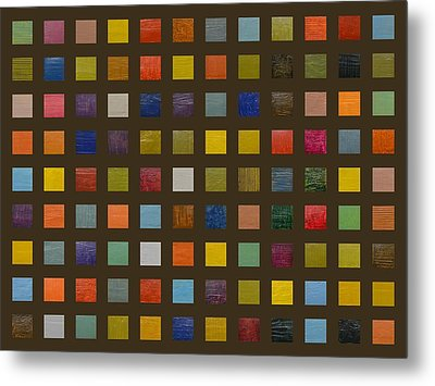 Collage Color Study Lll Metal Print by Michelle Calkins