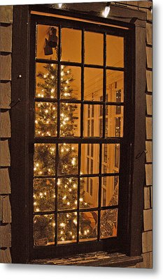 Colonial Christmas Metal Print by Joann Vitali