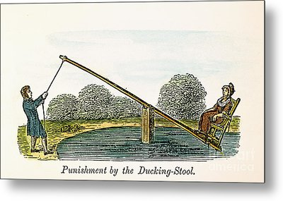 Colonial Ducking Stool Metal Print by Granger