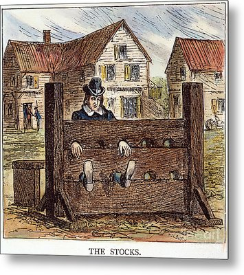 Colonial Stocks Metal Print by Granger