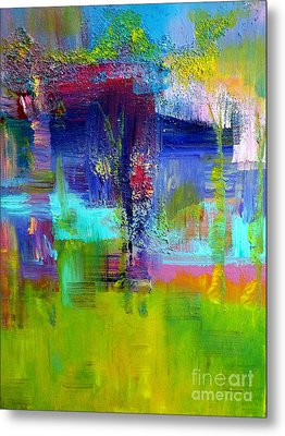 Color Blocks Metal Print by Claire Bull