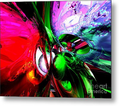 Color Carnival Abstract Metal Print by Alexander Butler