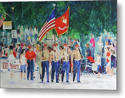Color Guard Metal Print by William Tockes