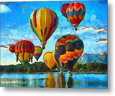 Colorado Springs Hot Air Balloons Metal Print by Nikki Marie Smith
