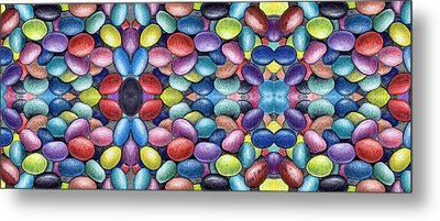 Colored Beans Design Metal Print by Nancy Mueller