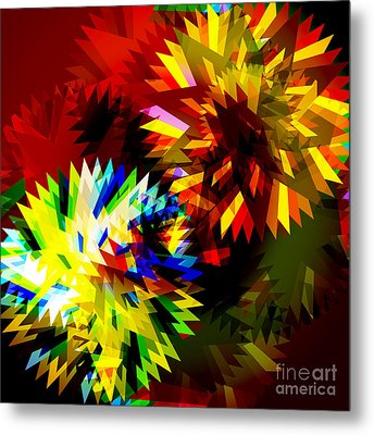 Colorful Blade Metal Print by Atiketta Sangasaeng
