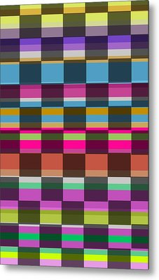 Colorful Cubes Metal Print by Louisa Knight