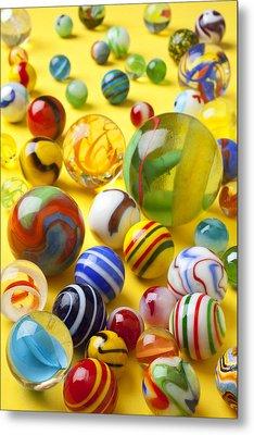 Colorful Marbles Metal Print by Garry Gay