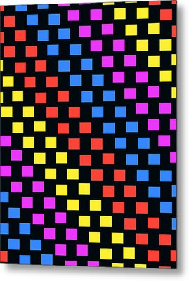 Colorful Squares Metal Print by Louisa Knight