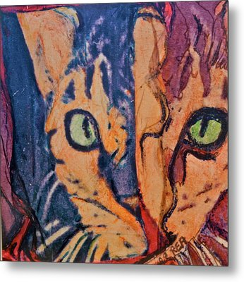 Colors Of A Cat Metal Print by Ruth Edward Anderson
