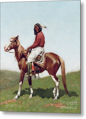 Comanche Brave Metal Print by Frederic Remington
