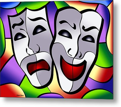 Comedy And Tragedy Metal Print by Stephen Younts