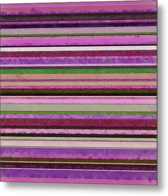 Comfortable Stripes Lll Metal Print by Michelle Calkins