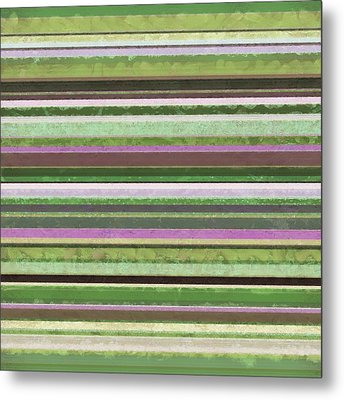 Comfortable Stripes Lv Metal Print by Michelle Calkins