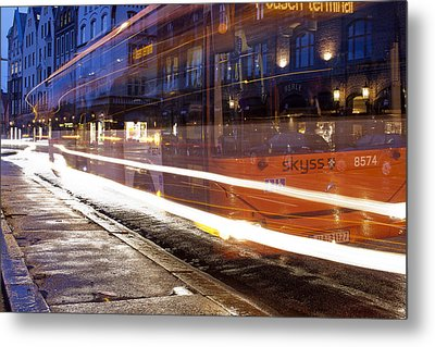 Commuter Bus Metal Print by A A