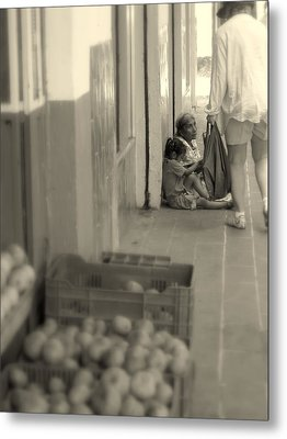 Compassion For The Poor Metal Print by Cindy Wright