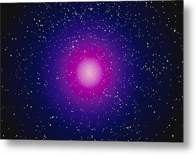Computer Graphic Image Of A Galaxy Metal Print by Stocktrek