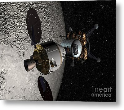 Concept Of The Orion Crew Exploration Metal Print by Stocktrek Images