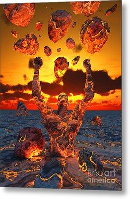 Conceptual Image Based On The Biblical Metal Print by Mark Stevenson