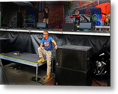 Concert Security Guy Metal Print by Ric Soulen