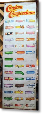 Condom Compendium Sign Thaiiland Metal Print by Sally Weigand