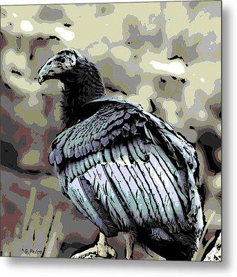Condor Profile Metal Print by George Pedro