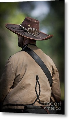 Confederate Cavalry Soldier Metal Print by Kim Henderson