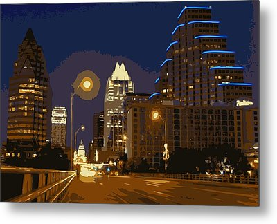 Congress Street Bridge Color 16 Metal Print by Scott Kelley