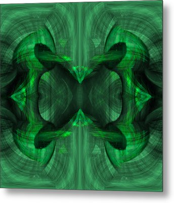 Conjoint - Emerald Metal Print by Christopher Gaston