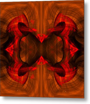 Conjoint - Rust Metal Print by Christopher Gaston