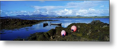 Connemara From Roundstone, Twelve Bens Metal Print by The Irish Image Collection