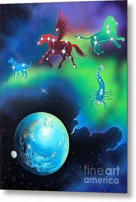 Constellations Metal Print by Kimberlee  Ketterman Edgar