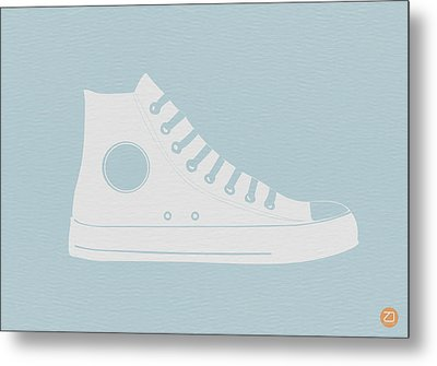 Converse Shoe Metal Print by Naxart Studio