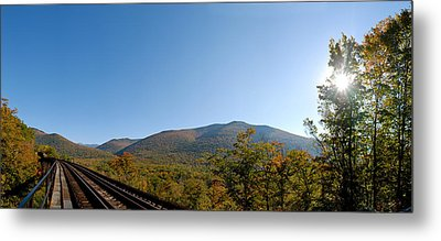 Conway Scenic Railroad - Short Metal Print by Geoffrey Bolte