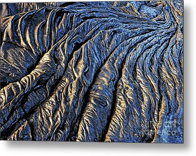 Cooled Pahoehoe Lava Flow Metal Print by Sami Sarkis