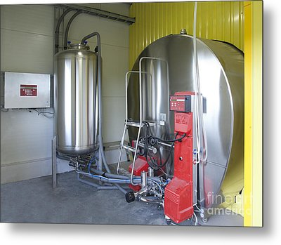 Cooling Tank For Milk Metal Print by Jaak Nilson